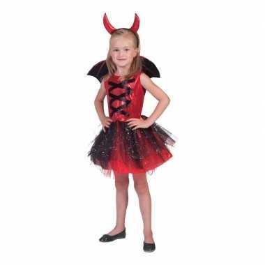 3 delige verkleedkleding jurkje duivel