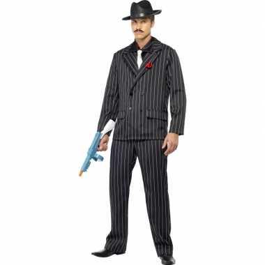 Al capone verkleedkleding zwart voor heren