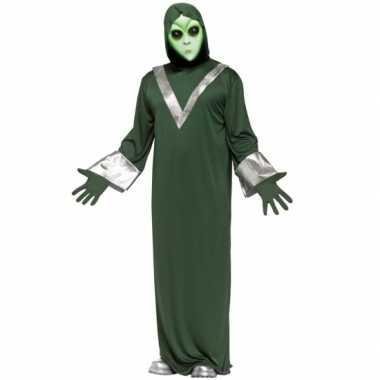 Alien verkleedverkleedkleding groen