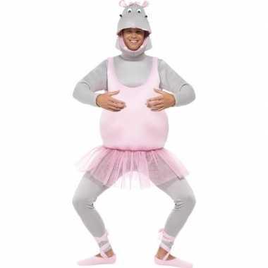 Ballerina nijlpaard verkleedkleding voor volwassenen