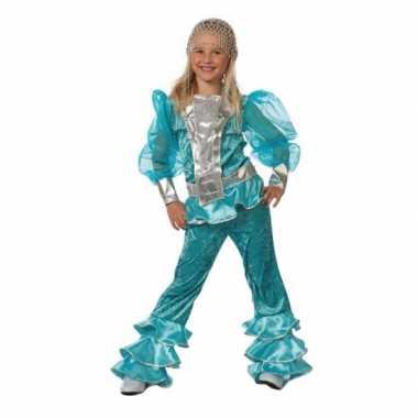 Blauw abba verkleedkleding voor kids