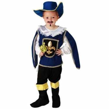 Blauw musketiers verkleedkleding voor jongens