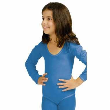 Blauwe kinder ballet verkleedkleding