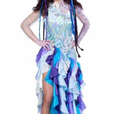 Blauwe prinses van de zee verkleedkleding