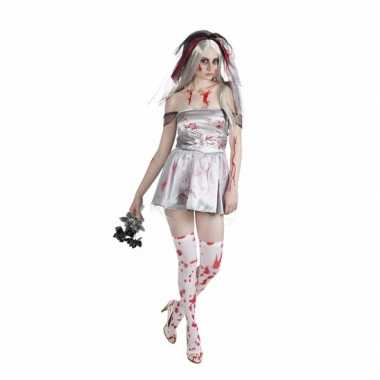 Bloederige bruid dames verkleedkleding