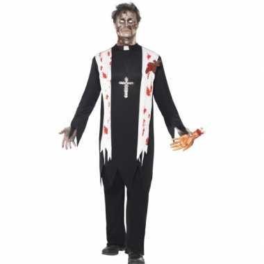 Bloederige horror priester verkleedkleding