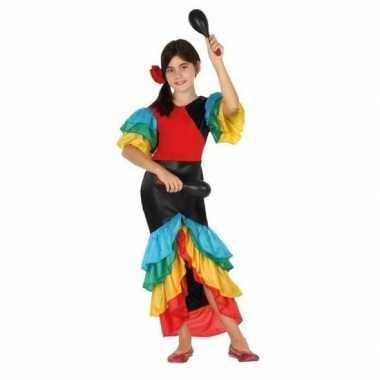 Braziliaanse samba rumba danseres verkleed verkleedkledingvoor meisjes