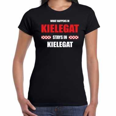 Breda/kielegat carnaval verkleedkleding / t shirt zwart dames