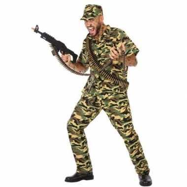 Camouflage soldaat verkleed pak/verkleedkleding voor heren