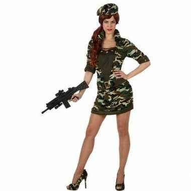 Camouflage soldaat verkleed verkleedkleding/jurk voor dames