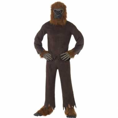 Canrvals verkleedkleding bruine aap