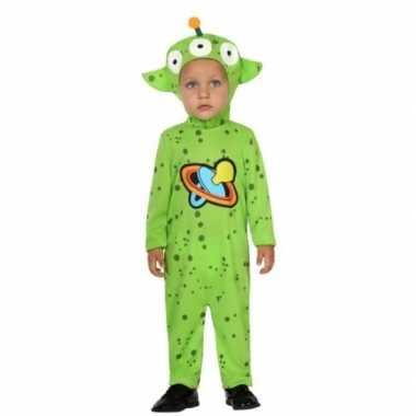 Carnaval aliens verkleedkleding peuters