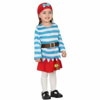 Carnaval piraten verkleedkleding met rok peuters