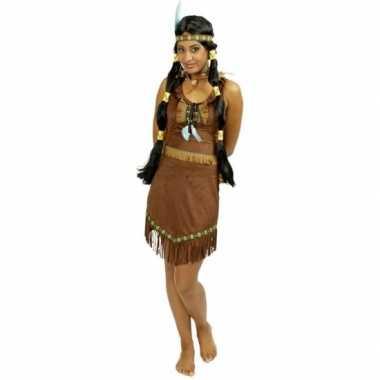 Carnaval verkleedkleding indiaan jurkje voor dames