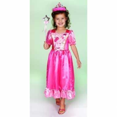 Carnaval verkleedkleding prinsessenjurk roze