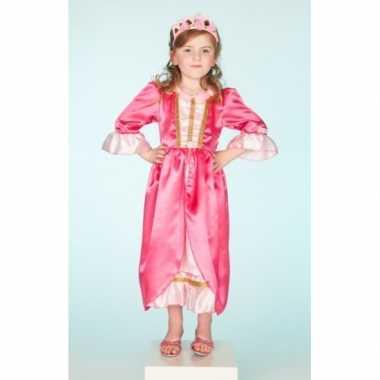 Carnaval verkleedkleding roze jurk voor meisjes