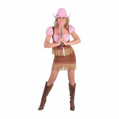 Carnavals verkleedkleding cowgirl dames