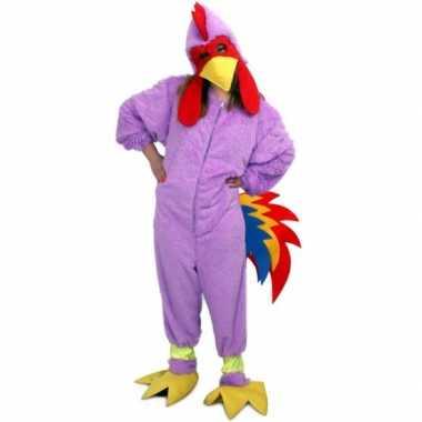 Carnavals verkleedkleding paarse kip