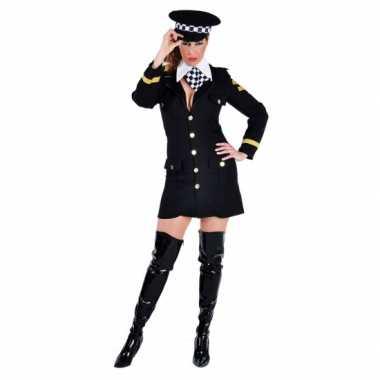 Carnavals verkleedkleding politie agente jurkje