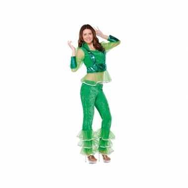 Carnavalsverkleedkleding disco groen voor dames