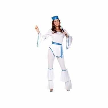 Carnavalsverkleedkleding disco wit voor dames