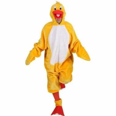 Carnavalsverkleedkleding gele vogels outfit