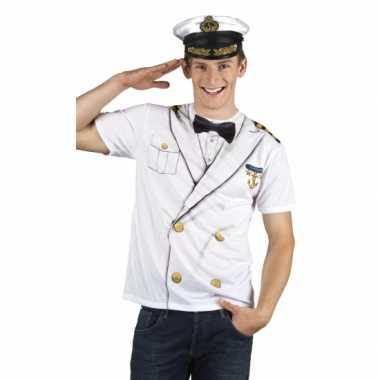 Carnavalsverkleedkleding kapitein heren shirt