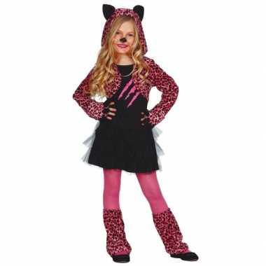 Carnavalsverkleedkleding katten jurkje kids