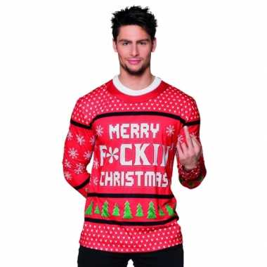Carnavalsverkleedkleding kerst heren shirt 10075234