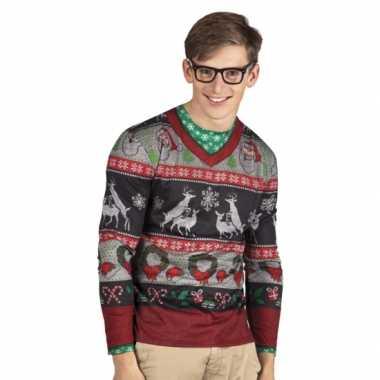 Carnavalsverkleedkleding kerst heren shirt