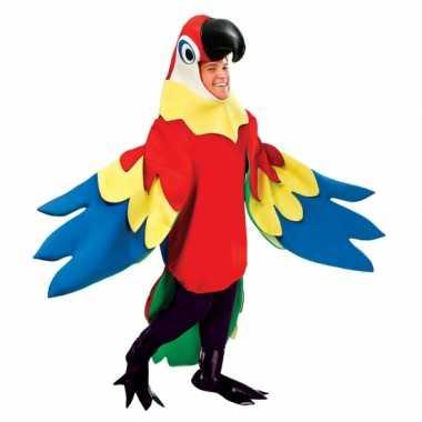 Carnavalsverkleedkleding papegaai