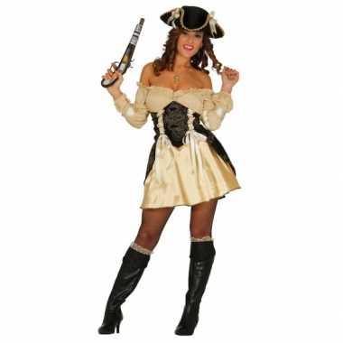 Carnavalsverkleedkleding piratenjurkje geel