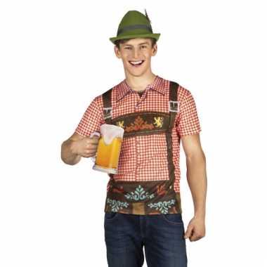 Carnavalsverkleedkleding tiroler heren shirt