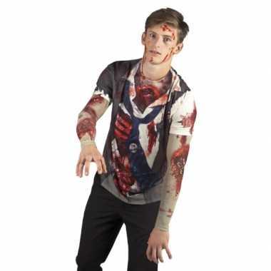 Carnavalsverkleedkleding zombie man shirt