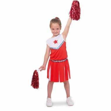 Cheerleader pakje verkleed verkleedkleding voor meisjes