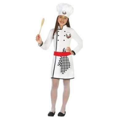 Chef kok verkleed verkleedkleding/jurk voor meisjes
