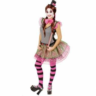 Clown carnavalsverkleedkleding voor dames