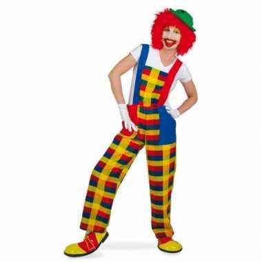 Clown pebbi verkleedverkleedkleding voor volwassenen