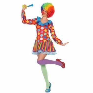 Clown verkleed jurkje/verkleedkleding voor dames