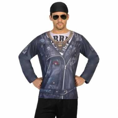 Compleet biker verkleedkleding voor heren