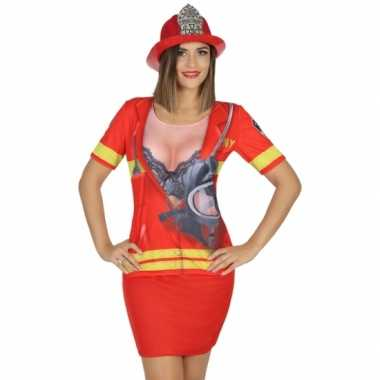 Compleet brandweer verkleedkleding voor dames