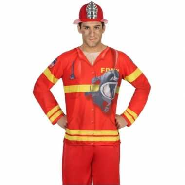 Compleet brandweer verkleedkleding voor heren