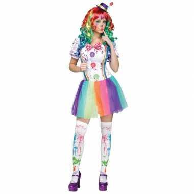 Compleet clowns verkleedkleding paint voor dames