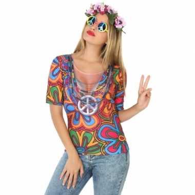 Compleet hippie verkleedkleding voor dames