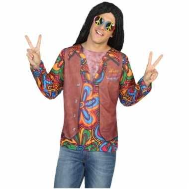 Compleet hippie verkleedkleding voor heren