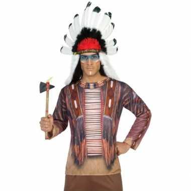 Compleet indiaan verkleedkleding voor heren