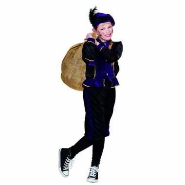 Compleet paars pieten verkleedkleding voor kinderen