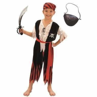 Compleet piraten verkleedkleding maat m voor kinderen