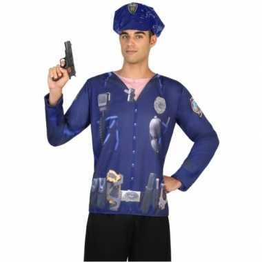 Compleet politie verkleedkleding voor heren