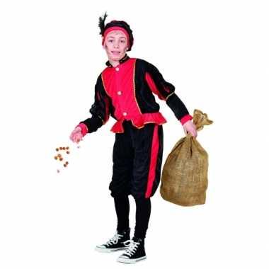 Compleet rood pieten verkleedkleding voor kinderen
